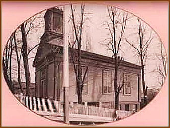 Baptist Church at Pine and Spring Streets (1855-1886)
